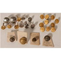 Rare and Unusual Buttons, Military and Union Pacific  (109191)