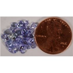 Small Tanzanite Accent Gem Stones in Various Color Intensities.  GREAT JEWELER'S LOT!  (109942)