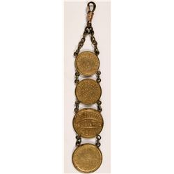 Theatrical Engraved Watch Fob  (110597)