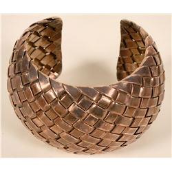 Woven Silver Cuff Bracelet  (109101)