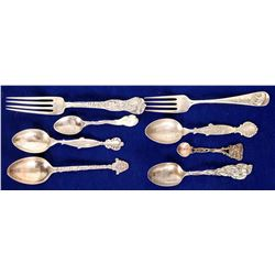 Western Souvenir Silver Spoons  (109067)