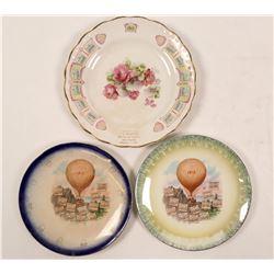 Set of 3 Fresno Calendar Plates c. 1912  (112669)