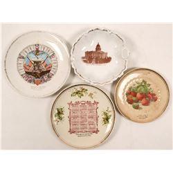 Set of 5 Sacramento Area Souvenir & Calendar Plates  (112667)