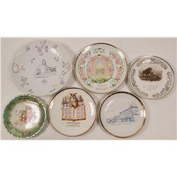 Six Santa Barbara Area Calendar & Souvenir Plates  (112666)