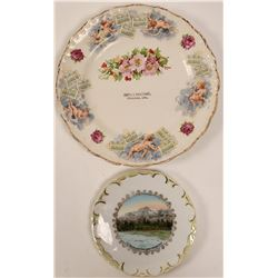 Truckee & Mt. Tallac Collector's Plates (2)  (112673)
