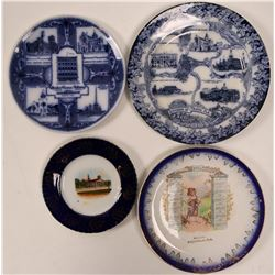 Souvenir Advertising and Calendar Plates (4)  (112623)