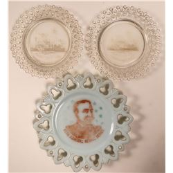 Maine and Dewey Souvenir Plates (3)  (112603)