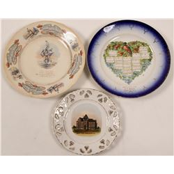 New Jersey Souvenir Advertising and Calendar Plates (3)  (112614)