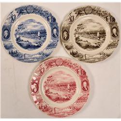 Oregon Souvenir Plates (3)  (112605)