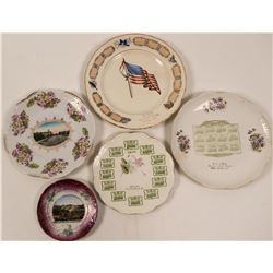 South Dakota Souvenir Advertising and Calendar Plates (4) + ND  (112612)