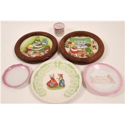 Christmas & Holiday Calendar Plates (6)  (112615)