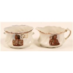 Native American Creamer and Sugar (2)  (112602)