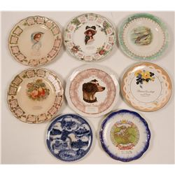 Souvenir Calendar Plate Collection, Wisconsin & Michigan (8)  (112694)