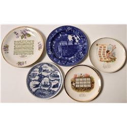 Various Souvenir Advertising and Calendar Plates (5)   (112613)