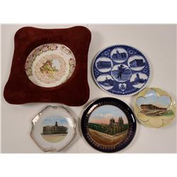 Western Souvenir and Advertising Plates (5)  (112611)