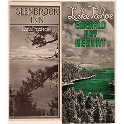 Rare Glenbrook Brochure Plus One Other Early Tahoe Brochure  (107889)