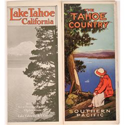Two Rare Lake Tahoe Railroad Tourism Brochures  (107890)