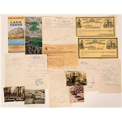 Lake Tahoe & Truckee Ephemera Collection  (107884)