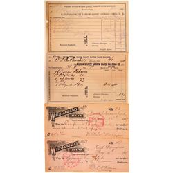 Nevada City Area Ephemera (Railroad & Explosives Checks)  (107816)