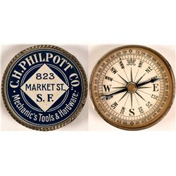 C.H. Philpott Co. Advertising Compass  (112087)
