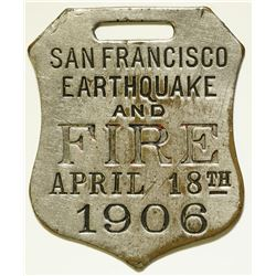 San Francisco Earthquake and Fire Fob  (112081)