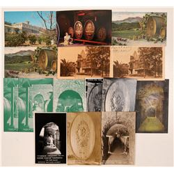 Beringer Winery Postcards with Early Lithos and Real Photo  Postcards  (Lot of 15)  (110815)