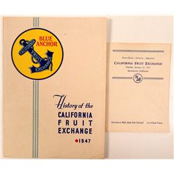 Blue Anchor California Fruit Exchange Ephemera  (112070)