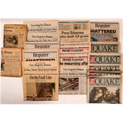The Earthquakes of California 1933, 1994, and 1989 in newsprint  (112366)