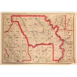 Weber-Punnett 1914 Map of Napa to Yolo County  (112333)