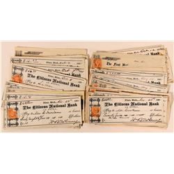 Michigan Bank Checks with Revenue Stamps  (112109)