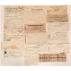 Misc. Western Americana: Nevada, California (Checks, Billheads, Railroad)  (107885)