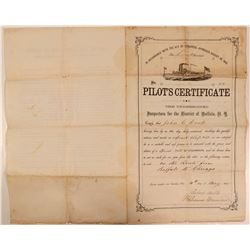 1865 Steamboat Pilot License  (107828)