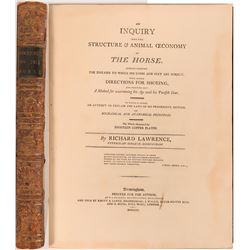 Inquiry into the Structure and Animal Economy of the Horse, by Richard Lawrence, 1801  (114298)