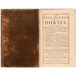 True Method of Dieting Horses, Gibson, 1731  (114334)