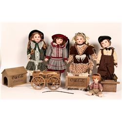 Coca-Cola kids doll collection of 7 dolls  (112770)