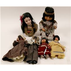 Collection of Ethnic Dolls; Native American and Black dolls  (110407)