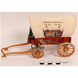 Ghirardelli gold rush Conestoga Wagon model  (112352)