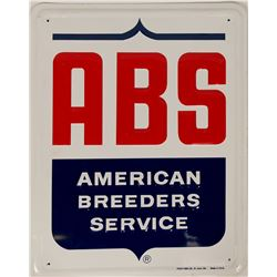 American Breeder's Assn Tin Sign  (114350)