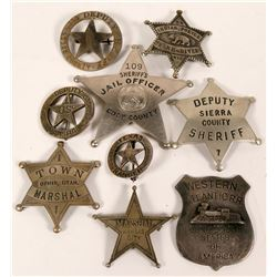 Collection of 9 Police and Railroad badges  (112761)