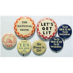 End Prohibition pin-backs  (112387)