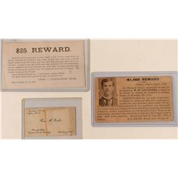Old West Sheriff Reward Post Cards & Business Card  (110882)