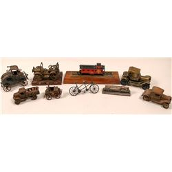 Railroad, Automobile, Bicycle Desk Display Collectibles  (110792)