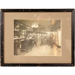 Saloon Photo With Musicians, Whiskey & Baseball  (104926)