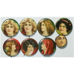 Victorian Lady Pin Backs  (112918)