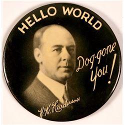 W.K. Henderson Hello World Advertising Mirror  (110589)