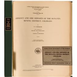 Geology and Ore Deposits of the Bonanza Mining District, Colorado, by Burbank  (112121)