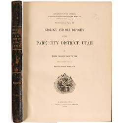 Geology and Ore Deposits of the Park City District, Utah, by Boutwell  (112124)