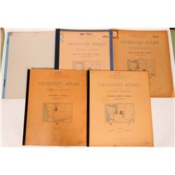 Washington USGS Geologic Folios (5)  (112194)