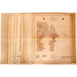 Alaska-Canada International Boundary Survey Maps, 1923-1928  (112189)