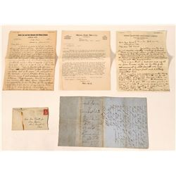 1857 Mother Lode Gold Claim and Mining Ephemera  (112101)